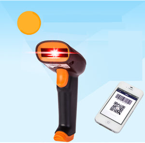 S3 2.4GHz Wireless Wifi Barcode Scanner 200 Scans/S Store 5000 Barcodes With 500mAh Li Battery+USB Cable