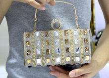 Ring Single-sided Glass Rhinestone Evening Bags