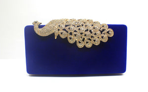 Solid Color Peacock Rhinestone Evening Bags