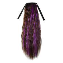 Small Bushed Out Perm Dual Colors Clip-in Pony Tail Hair Extension