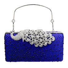 Peacock Rhinestone Chain Bag Ladies Evening Bags