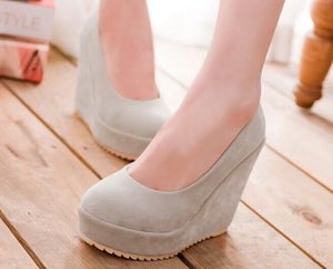 Women's New Matte Hot Fashion Wedge Platform Pumps