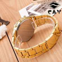 SOLAR SYSTEM Rhinestone Plate Golden Color Band Analog Quartz Watch