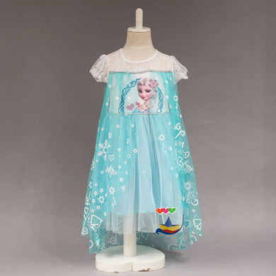 Short Sleeve Girl Dress Catoon Costume