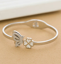Butterfly and Flower Decorated Bracelet for Women