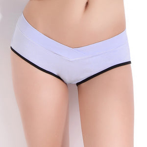 otton Pregnant Panties Maternity Underwear U-Shaped Low Waist Maternity Pregnancy Briefs Women Clothing
