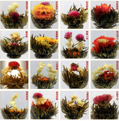 Blooming Flower Tea 16 Kinds Ball Blooming Flower Herbal tea Artificial Flower Tea Products 150g