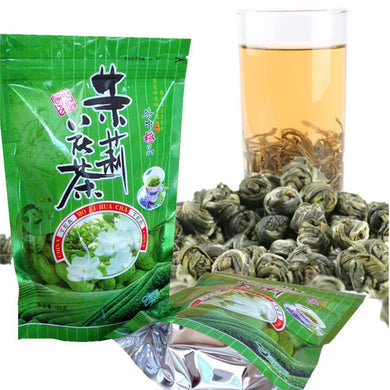 High Quality Jasmine Flower Tea 100g Premium Jasmine Pearl Chinese Organic Green Tea Hardcover Scented Tea