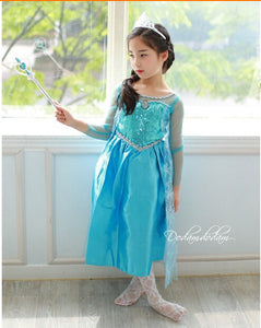 Elsa Inspired Ice Princess Snowflake Dress