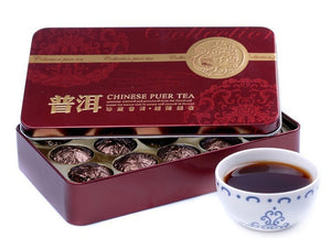 185g Glutinous Rice Fragrant Mini Tuocha Tin Packaging Pu'er Tea China Yunnan Green Slimming Puer Tea
