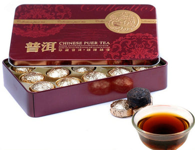 Fragrant Mini Tin Packaging Pu'er Tea China Yunnan Green Puer Tea Puerh Gift 185g
