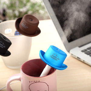 Cowboy Hat USB Air Humidifier for Home Mist Maker Air Purifier Ultrasonic Humidifiers Aroma Diffuser Mini Humidificador Fogger