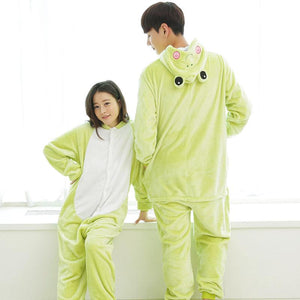 Homewear Jumpsuits Cartoon Animals Pajamas Frog Costume for Women