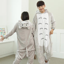 Flannel Pajamas Cartoon Animal Jumpsuits Chinchilla Costume for Women