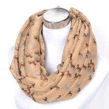 Voile Running Horses Pattern Women's Scarf and Wrap