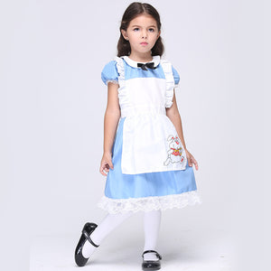 Costume For Kids Girls Cosplay Sissy Dresses Children Maid Outfit Fancy Clothing For Alice In Wonderland Party