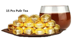 PuEr Tea 15 Pcs High Quality Chinese Yunnan Pu'Er Tea Mini Pu Er Tuocha Puerh Tea