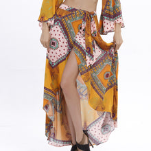 Foreign Trade Original Single Folk Wind Print Dress Two Dresses