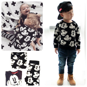 Spring and Autumn Baby Boys Mickey Mouse Pattern Printed Suits