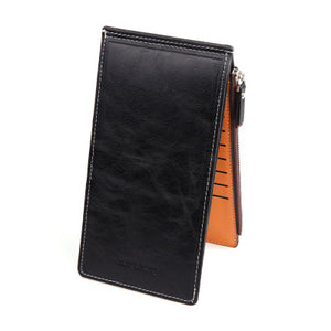 Multifunctional Vintage Leather Long Purse