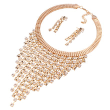New High-End Luxury Fashion Multi-Layer Fringe Diamond Necklace Earrings With Necklaces And Earrings