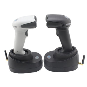 F10 Wireless Barcode Laser Scanner Long Distance 433 Wireless Barcode Reader High Scan Speed Barcode Scanner for Logistic Store