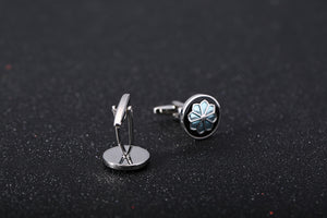 Enamel Cufflinks Wedding Anniversary Gift Gemelos Cuff Links Men Jewelry