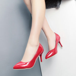 New Product Is Thin And Low Heel Shoe Leather Shoes Women'S Fashion Sweet Match Show Thin One Shoe