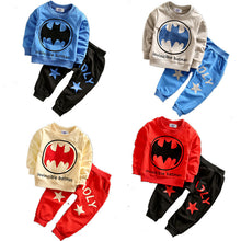 Baby Boys Spring and Autumn Bat Pattern Casual Pullover and Long Pants Cotton Suits