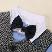 Baby Kids English Style Bowtie Detail Denim Shirt Jacket and Jeans 3pcs Suits