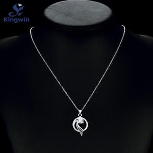 Silver Angel Wings Pendant Necklace for Women