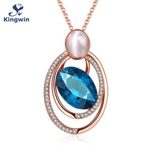 The UNICERSE Mystery Blue Glass Gemstone Czech Drill Pendant for Necklace