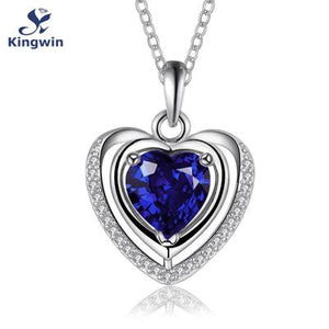 Heart Shape Zircon Cameo Gemstone Necklace Multiple Color Necklace
