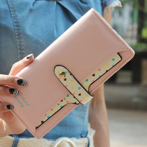 Wallet Lady Love Purse Foreign Trade Korean Version PU Female Card Wallet