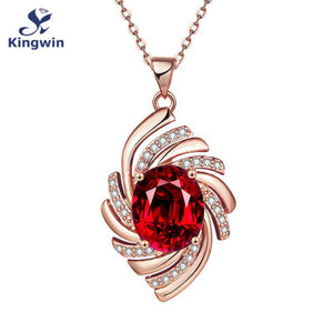 Vortex Zircon Gemstone Pendant Silver Gold Rose Gold Plated Necklace