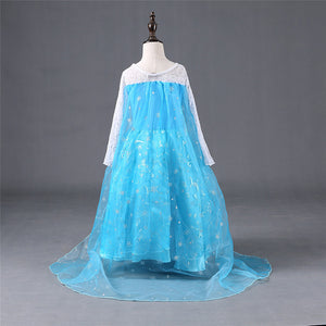 Spring Style Girl Dress Princess Elsa Dress