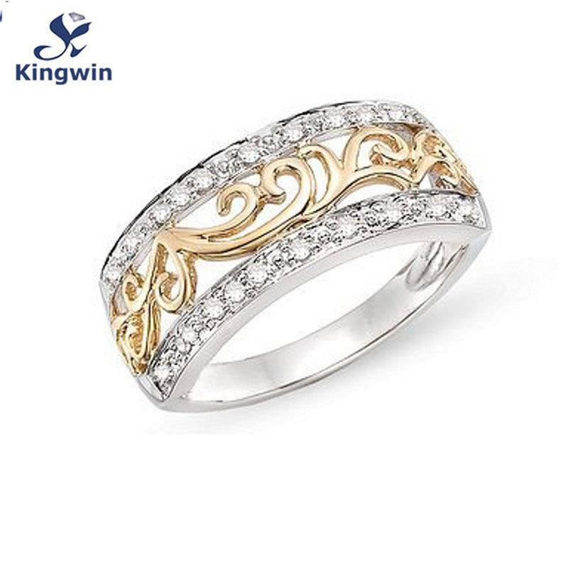 CATCH THE WIND Gold Plated Rhinestone Detail Rings for Women