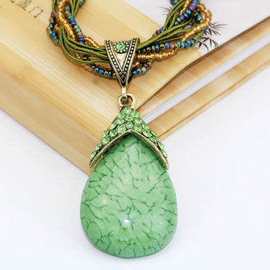 Sweater Pendant Necklaces Women Men Blue Tophus Funny Jewelry Accessories Tree Of Life Retro Crystal Necklace Gift