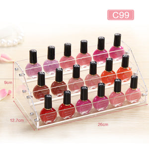 Acrylic Multiple Tiers Nail Polish Shelf Perfume Organizers