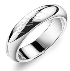Movie Duplicated Rings His and Hers Rings Titanium Steel Rings Cosplay Rings