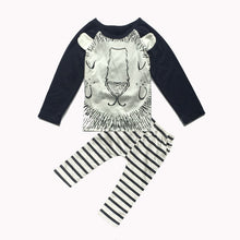 Cotton Cute Stripes Lion Suits for Baby Boys