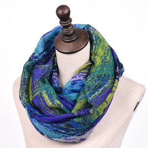 Oil Painting Pattern Voile Women's Fashion Scarf