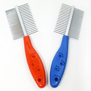 Paw Print Double-Sided Comb Pet Dog Comb With Comb And Comb