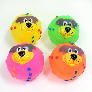 Cute 6.5cm Dog Head Toy Make A Sound Cartoon Of The Pet Toy