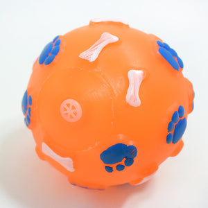 Paw Print Bone Ball Pet Pet-Dog Toy Make Fun Voice Dog Toy