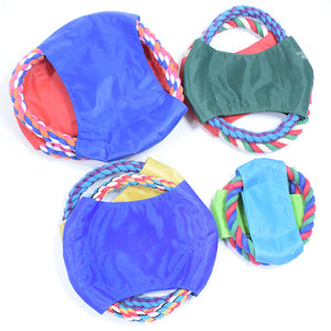 Cotton Rope Frisbee Small Training Interactive Dog Bite Rope pet Toy