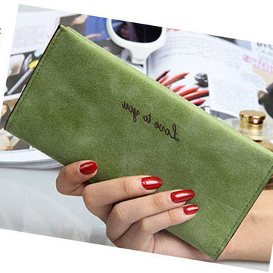 Wallet Lady Medium Long Vintage Grinding Leather Card Bag Pu Wallet