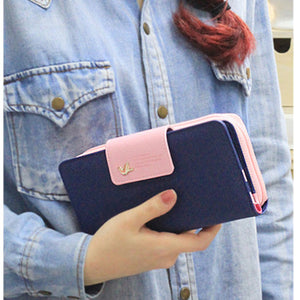 Hot Style Wallet Small Bird Zipper Fasteners Female Purse Long Style Pu European And American Women's Purse