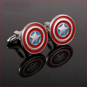 Round Shield Designed Cuff-links