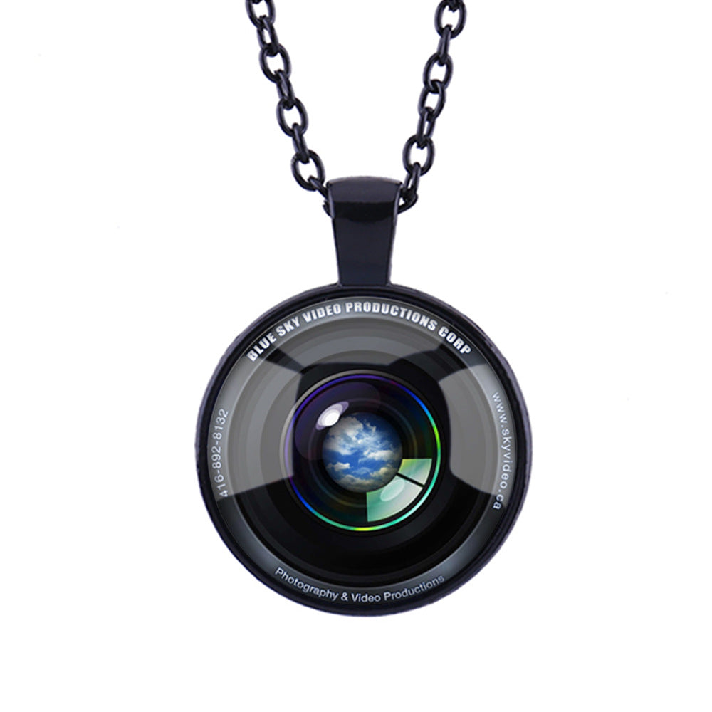 Camera Lens Pattern Pendant Fashion Necklace